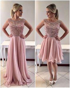 A-line Evening Dresses 2018 Chiffon Prom Dresses, Beading Prom Dresses,Formal Women Dress,prom dress