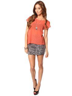 Papaya Clothing Online :: LEOPARD PRINT MINI SKIRT