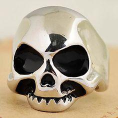 Punk Skull testa 316L acciaio inossidabile Uomini Ring Jewelry – EUR € 12.99