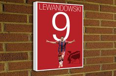 Lewandowski 9 Home Jersey Canvas Print - FC Bayern Munich -#miasanmia #FCbayern #bayernmunchen #football