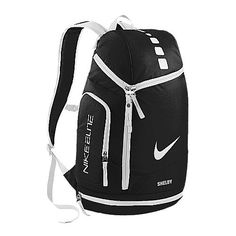 nike elite backpack black and white