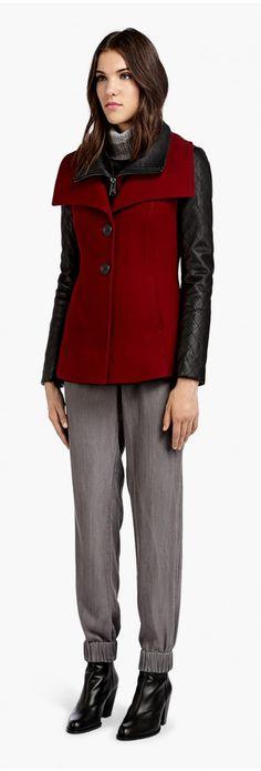 Soïa & Kyo Woollen Jacket - Vero in red | espace miX miX