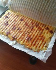 Potato hash in the panini press. Potato hash in the panini press. Gourmet Recipes, My Recipes, Snack Recipes, Cooking Recipes, Brunch, Good Food, Yummy Food, Most Delicious Recipe, Love Eat