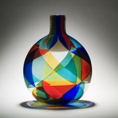 Murano glass..Harlequin colours vase..reminiscent of the Arlecchino costumes from the 1920s
