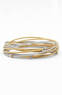 Charriol® Interlocked Cable Bracelet Set available at #Nordstrom