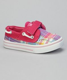 Take a look at this Pink Plaid Boat Shoe by Rockland Footwear on #zulily today!