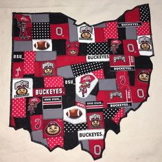 OSU Ohio quilt, I have this quilt on canvas for sale at the Golden Hobby Shop in German Village Ohio