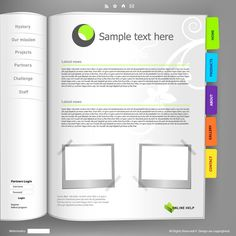 Notepad page template vector material