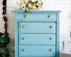 Chalk finish paint ideas. How to make a chalk painted dresser.  Learn more with tips, ideas and expert articles from the Walmart Craft Ideas Center.