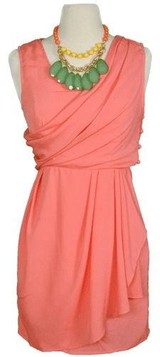 Coast of Carolina Dress - coral/peach is universally the most flattering color on women. I need more clothes in this color!