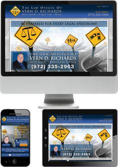 Texas Lawyer Vern Richards Website Design - Check out our newest portfolio designs at http://firstpageattorney.com/web-design-portfolio/
