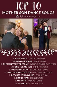 The dance shared between Mother and Son is a beautiful part of every wedding and. - The dance shared between Mother and Son is a beautiful part of every wedding and… - Mother Groom Dance Songs, Mother Son Wedding Songs, Mother Son Dance Songs, Wedding Dance Songs, Wedding Playlist, Father Daughter Dance, Wedding Dinner Music, Wedding Dj, Wedding Country