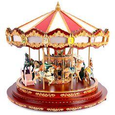 delicate merry-go-round music box