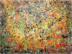Jackson Pollock Drip Paintings Abstract action art slideshow