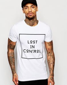 ASOS Muscle T-Shirt With Typographic Monochrome Print And Stretch
