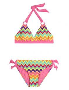 Neon Zig Zag Bikini Swimsuit, at justice I want this swim suit!!!!