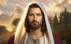 Pintura de Jesus Cristo de Simon Dewey, um pintor inglês conhecido por criar imagens lindas e edificantes do Salvador.