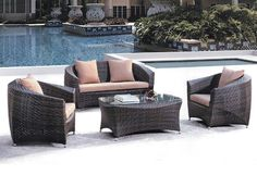 YG-6006 Rattan Sofa, Outdoor Furniture Sets, Outdoor Decor, Home Decor, Decoration Home, Room Decor, Home Interior Design, Home Decoration, Interior Design