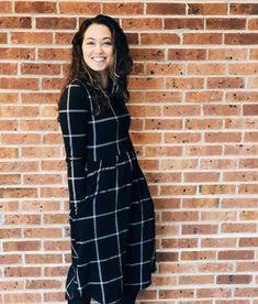 Modest grid dress - Erika dress