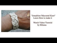 "By Bibiana; WATCH VIDEO on how to make a ""Josephine #Knot"" Tutorial A.k.A. ""Macramé"" or ""Sailor"" knots. found in my  you tube ""Create Handicrafts"" (playlist). For My handmade greeting cards visit me at My Personal blog: http://stampingwithbibiana.blogspot.com/"