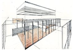 Eames House Drawing