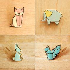 Animal Origami Brooch