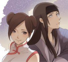 Neji and Tenten, so cute Anime Naruto, Kid Naruto, Manga Anime, Naruto Cute, Naruto Girls, Naruto Shippuden Anime, Couple Naruto, Naruto Couples, Anime Couples