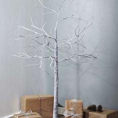Snowy LED Light Twig Tree | Dunelm