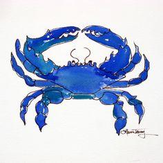 Chesapeake Bay Blue Crab: watercolor print