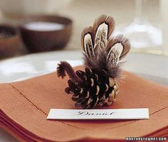 pinecone and feather turkey