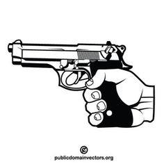Handgun vector image in public domain