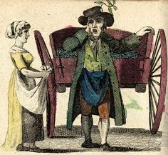 """Green Hastings!"" from ""The New Cries of London"" (1803) - ""Hastings"" was a term used to refer to peas at the time."