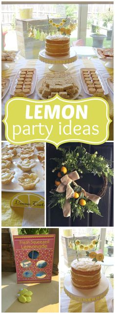 Here's a teenage birthday party with a fun lemon theme! See more party ideas at CatchMyParty.com!