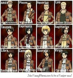 Shingeki no Kyojin (Attack on Titan) Hell yes! Jaeger is a Taurus. The only time I care about horoscopes.