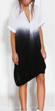 You'll be entranced by the graduating colours of Fate's Dip Dye Shirt Dress. Women's Knee Length Dresses, Short Sleeve Dresses, Fate Clothing, Dip Dye Shirt, Dress Shirts For Women, Tie Dyed, Frocks, Cold Shoulder Dress, Shirt Dress