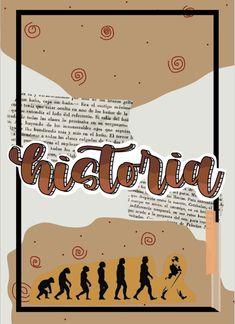 Portada y plantilla de historia PDF en el link. Bullet Journal School, Bullet Journal Cover Ideas, Bullet Journal Lettering Ideas, Bullet Journal Notes, Bullet Journal Writing, Book Journal, School Organization Notes, School Notes, Pretty Notes