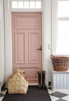 love the door color and the floor