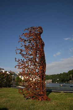 you blew me away,sculpture from original scrap mild steel by Penny Hardy