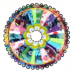 """Virginia Fleck takes plastic bags and reuses them to create beautiful """"mandalas,"""" which are, very broadly defined, religious Hindu crafts."""
