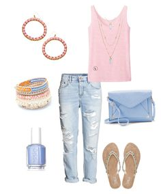 """""""Untitled #274"""" by kmysoccer on Polyvore featuring Uniqlo, NAKAMOL, Stella & Dot, Apt. 9, Blu Bijoux, M&Co and Essie"""