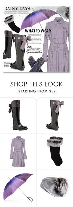 """04_04 Rainy Days: Dance in the Rain"" by sonyastyle ❤ liked on Polyvore featuring Joules, Armani Collezioni, UGG, Black and WALL"