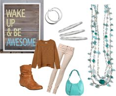 """""""Wake up and be Awesome"""" by shine2day on Polyvore"""