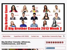 Big Brother Canada: Alliances, Cuddlemances, and More!