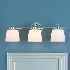 """ByGone Classic Bath Light - 3 light so clean and simple. $130 24""""w"""