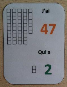 jeu pour apprendre le nom des nombres - pour aider un élève de CP à apprendre le nom des nombres ainsi que leur écriture chiffrée de 1 à 50.