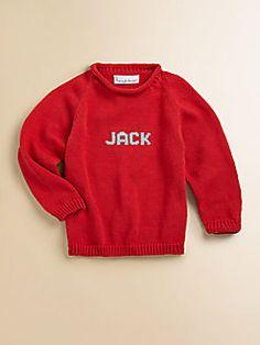 MJK Knits  Personalized Name Sweater/Red