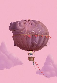 Ruslan Suleimanov is a freelance concept artist and Illustrator in the Entertainment Industries. Based in Almaty, Kazakstan, Ruslan shows great skill in creatin Cute Hippo, Baby Hippo, Graphic Design Branding, Fantasy Art, Concept Art, Cute Animals, Wild Animals, Baby Animals, Illustration Art