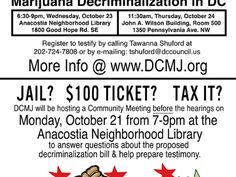 Today DC residents will have a chance to weigh in on Marion Barry s idea marijuana decriminalization and whether or not to decriminalize the personal possession of small amounts of pot A public hearing will be held tonight October 23 2013.  Legalize It, Regulate It, Tax It!  http://www.stonernation.com Follow Us on Twitter @StonerNationCom