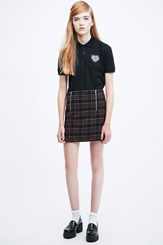 Cooperative Check Pelmet Skirt in Black