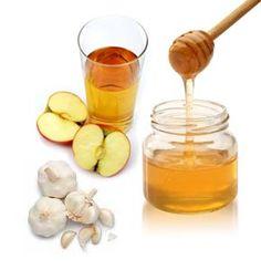Méz, almaecet, fokhagyma